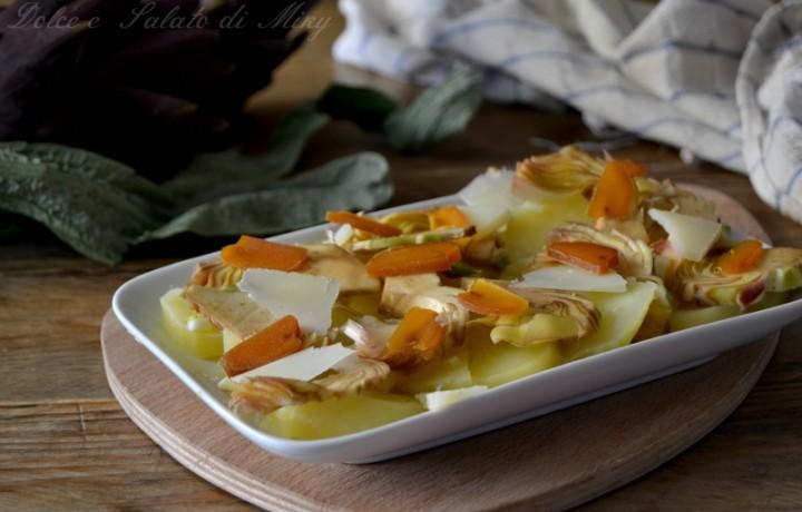 Insalata di patate carciofi e bottarga