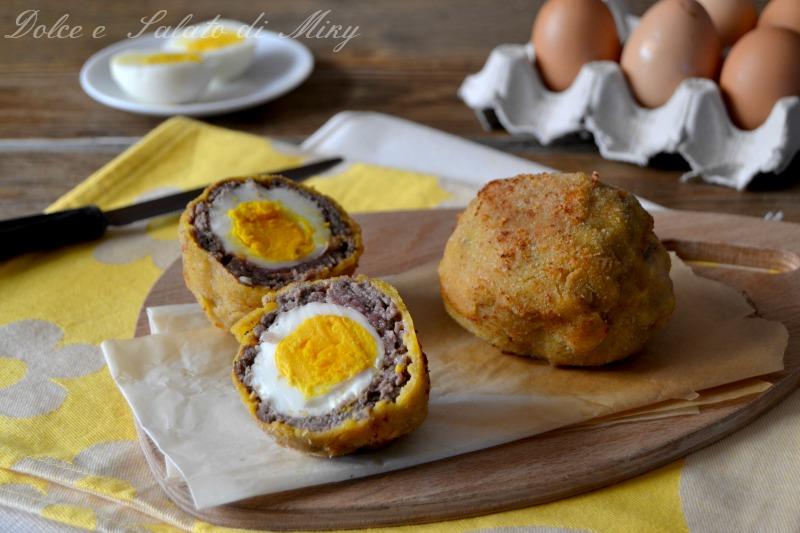 Polpette con uovo sodo
