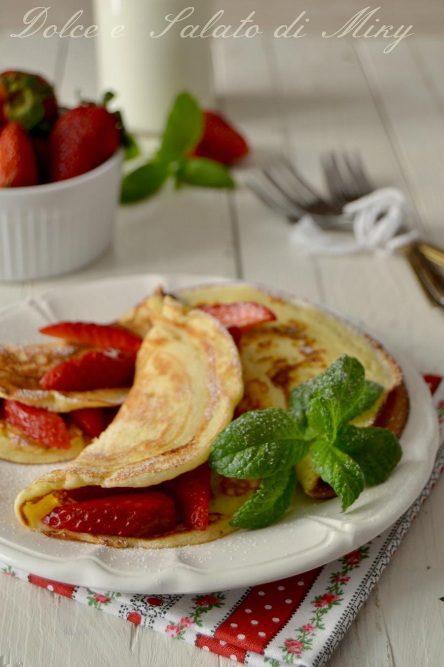 Pancake con le fragole