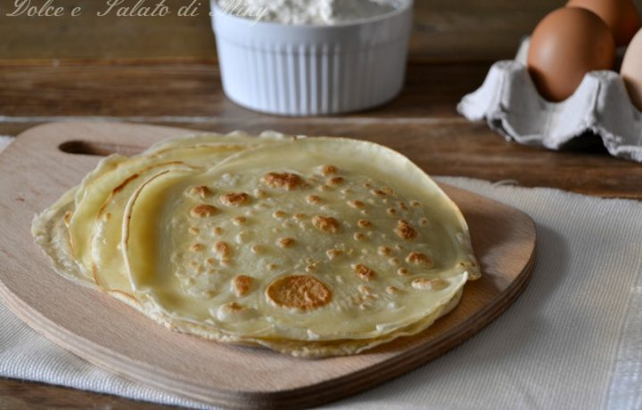 Crepes all'acqua