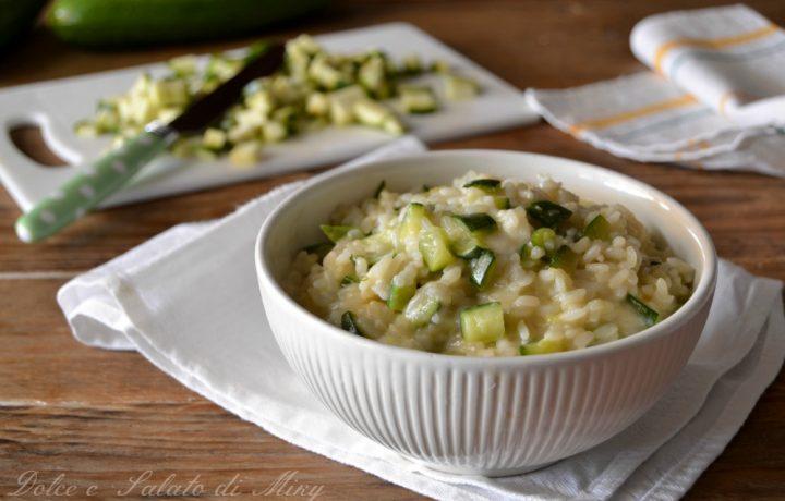 Risotto con zucchine e robiola
