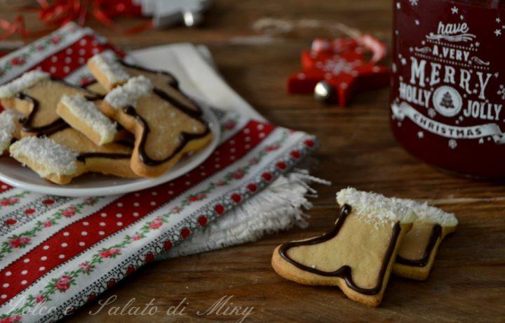 Biscotti stivale di Babbo Natale