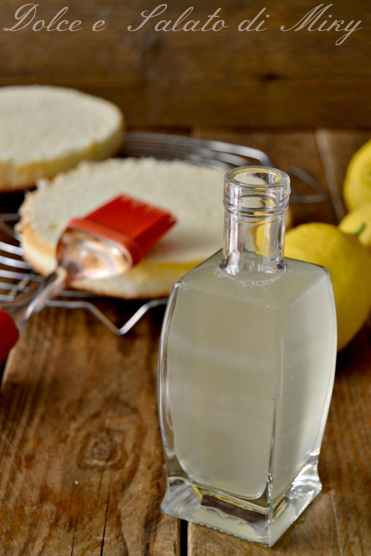 bagna al limone per torte, ideale per bagnare dolci da farcire