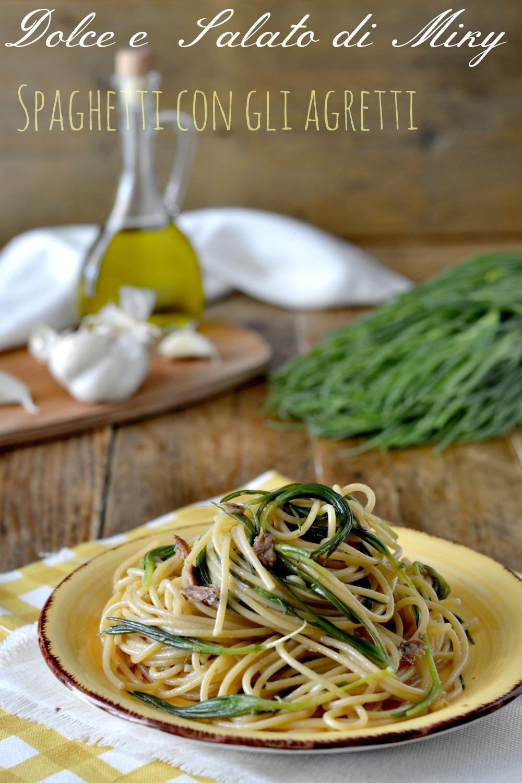 Spaghetti con gli agretti con aglio e acciughe sott 39 olio for Cucinare gli agretti