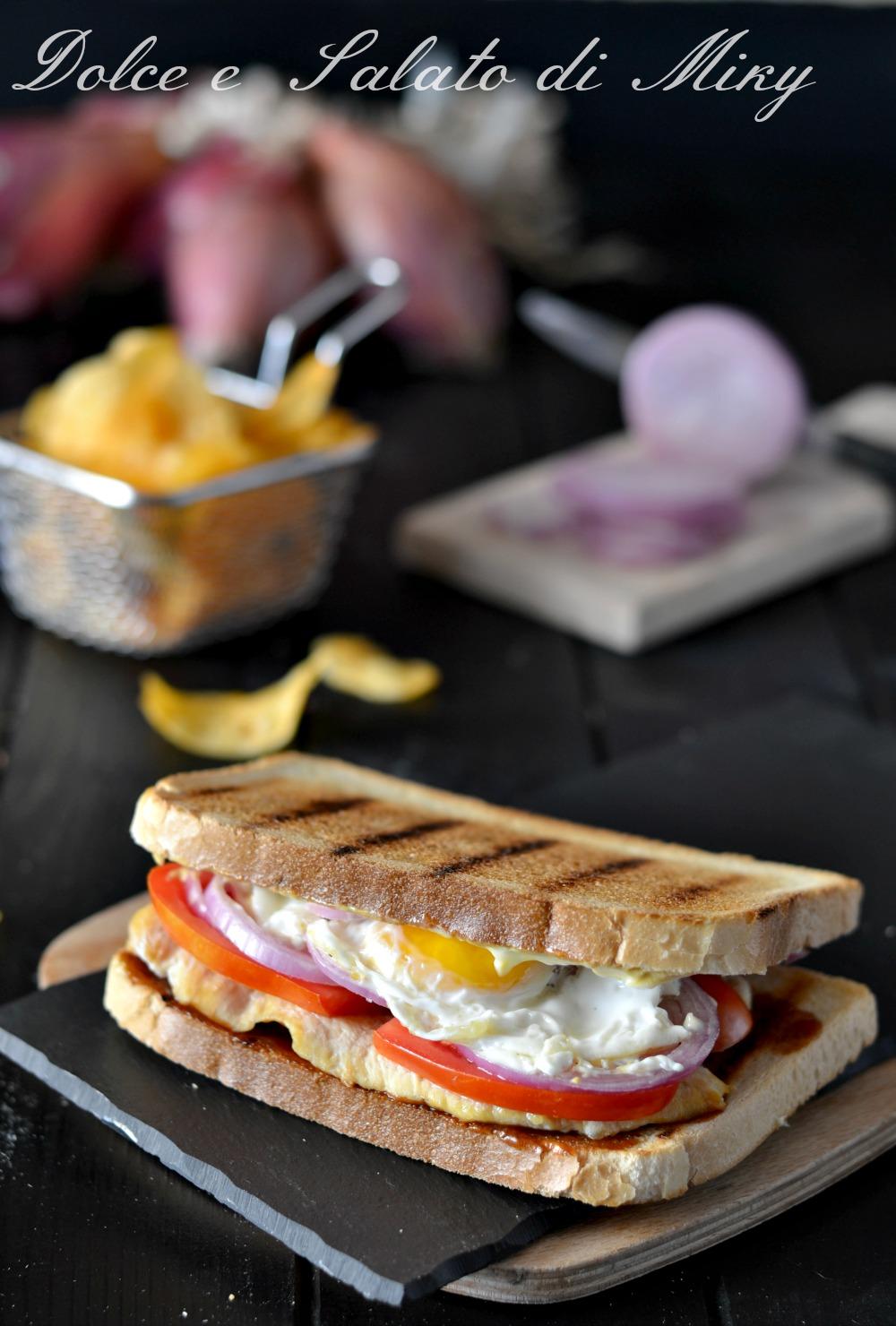 Chicken egg sandwich