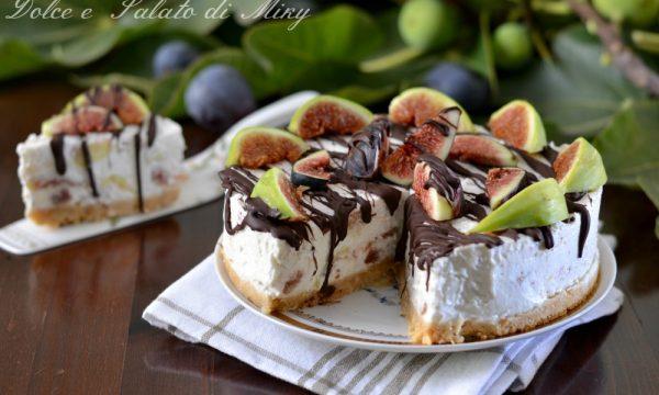 Torta fredda fichi e cioccolato