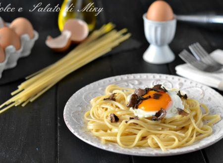 Linguine con uovo e tartufo
