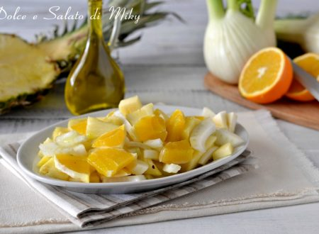 Insalata di arance, finocchi e ananas