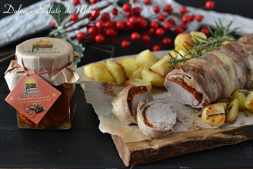 Filetto con pomodori secchi e pancetta