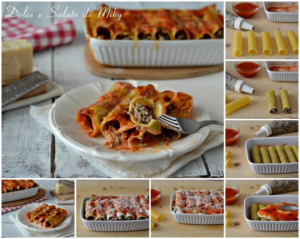 Cannelloni con carne e funghi