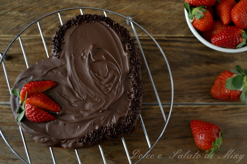 Chocolate heart càke