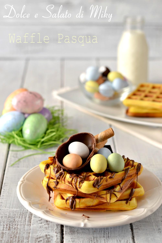 Waffle per pasqua colazione o merenda a tema pasqua for Decorazione waffel