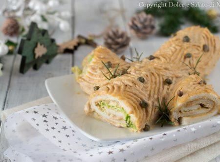 Tronchetto di Natale con salsa tonnata