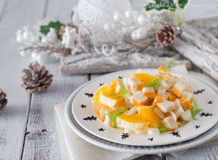 Insalata di surimi e arance