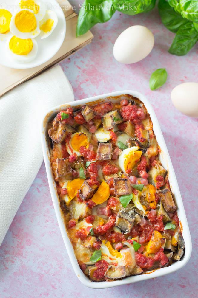 Pasticcio di lasagne e melanzane