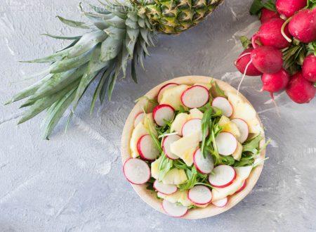 Insalata di ananas e ravanelli