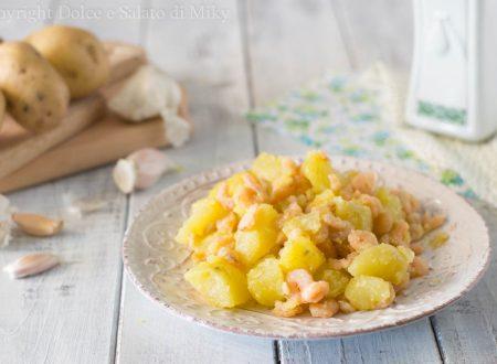 Insalata di patate e gamberetti