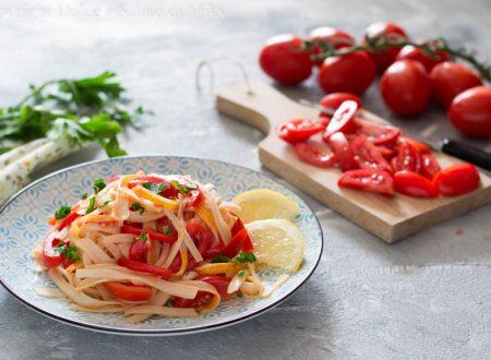 Spaghetti di surimi ai pomodorini