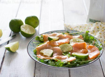 Salmone marinato al lime