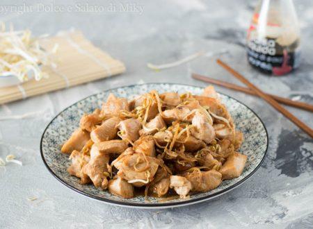 Pollo con germogli di soia