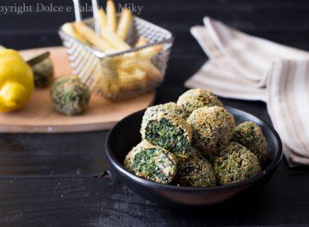 Polpette di spinaci in friggitrice ad aria