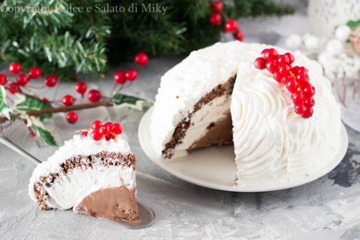 Zucotto di Natale alla nutella