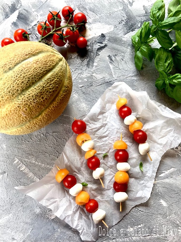 spiedini con melone