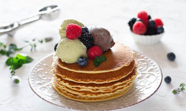 Pancake con gelato