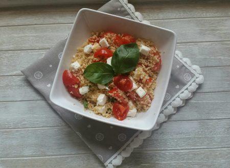 Cous cous con pomodorini e feta