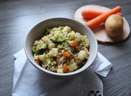 Insalata di cereali e verdure