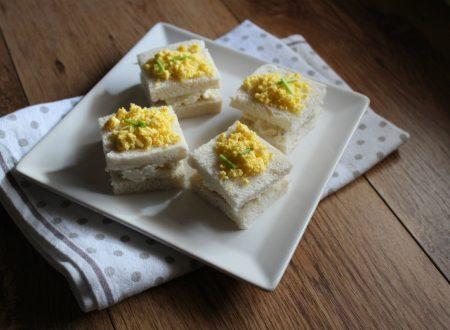 Tramezzini mimosa al formaggio