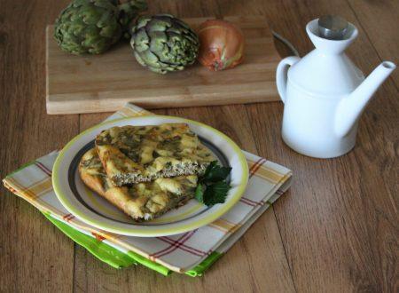 Frittata con carciofi e cipolla