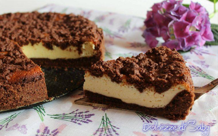 Cheesecake sbriciolata al cacao