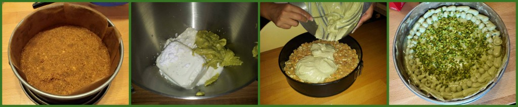 cheesecake al pistacchio e ricotta