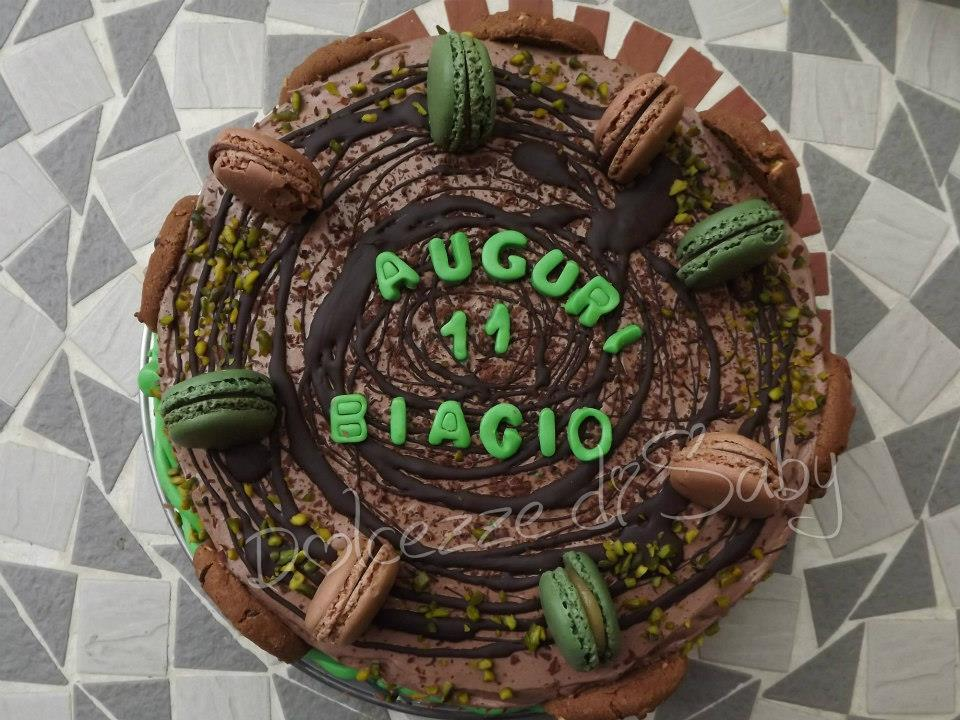 da quando li ho mangiati a Parigi li adoro ed anche mio figlio quindi ha voluto una torta cosi e si puo´dire di no ?