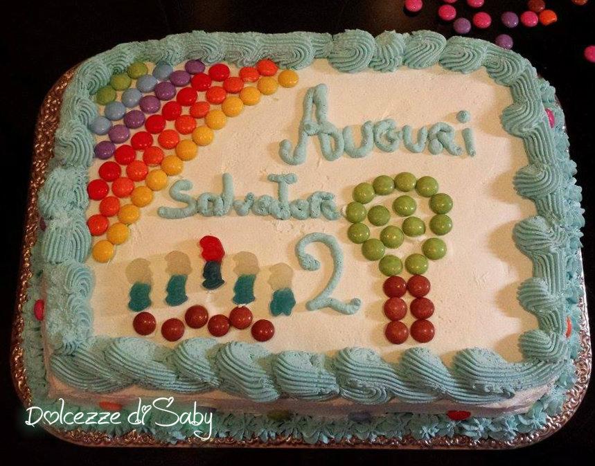 Torta per bambini arcobaleno