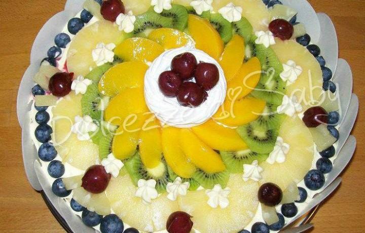 Torta alla frutta con crema al mango