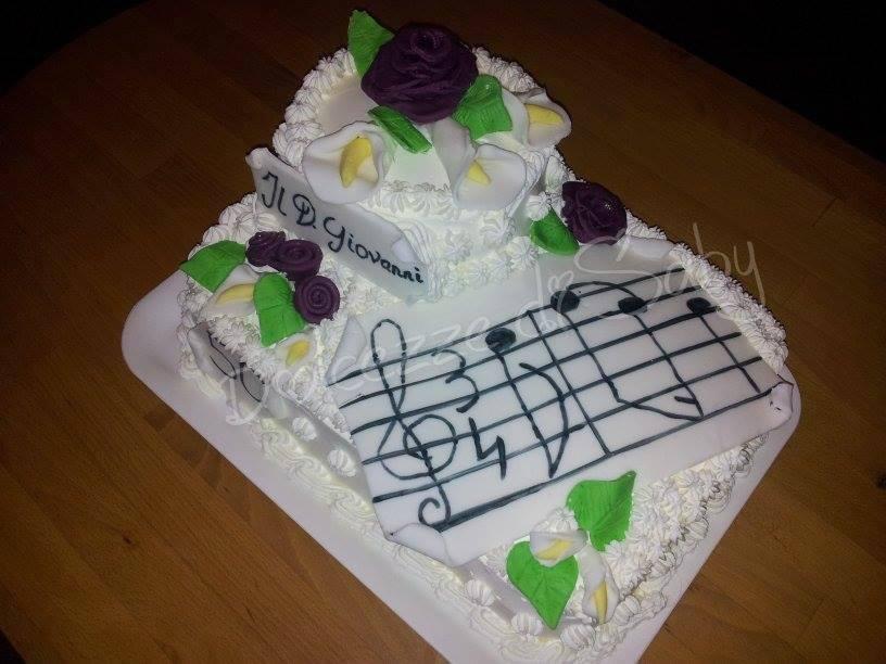 """Quando vogliono Mozart su una torta che fai ? Io ho fatto uno spartito con la prima battuta del famoso """"Il don Giovanni""""..."""