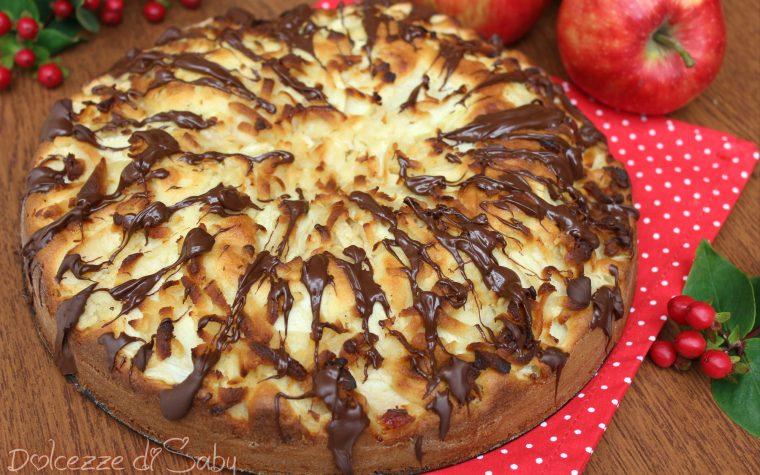 Torta di mele (marzapane e cioccolato fondente)