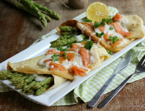 Crêpes asparagi e salmone