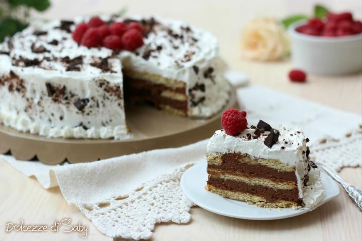 Torta biscottata al cioccolato (con solo 4 ingredienti)