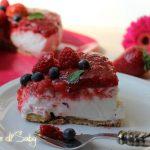 Cheesecake ai frutti di bosco (con agar agar)