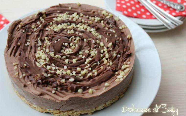 Cheesecake nocciolosa (con ricotta e nutella)