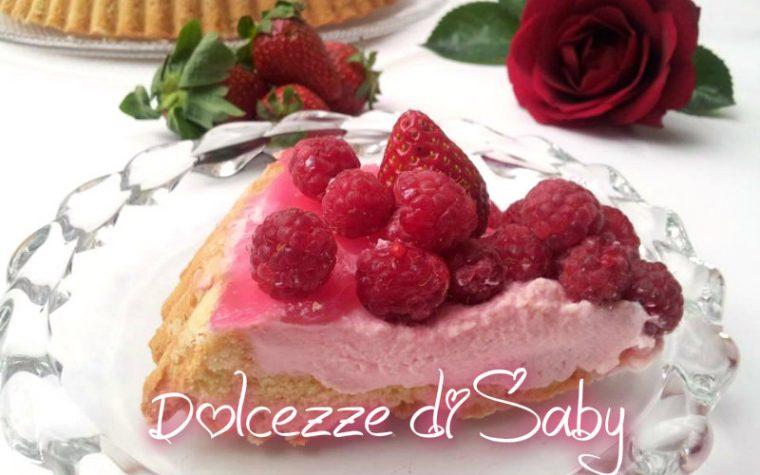 Torta fragole e lamponi
