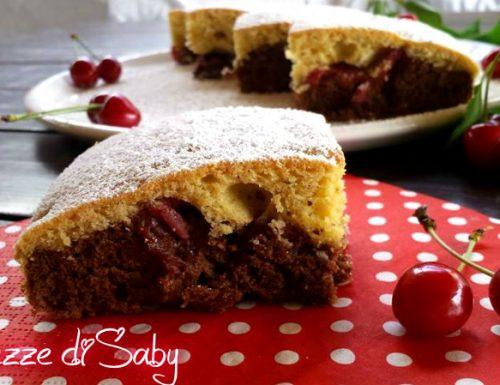 Torta ciliegie mandorle e cioccolato