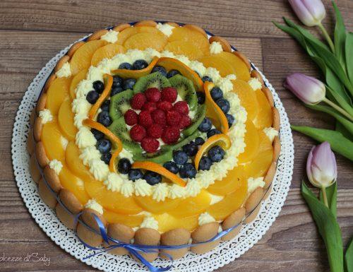 Torta al limone e frutta