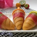 Ghiaccioli di frutta arcobaleno