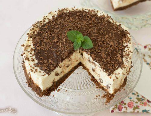 Cheesecake stracciatella (senza gelatina)