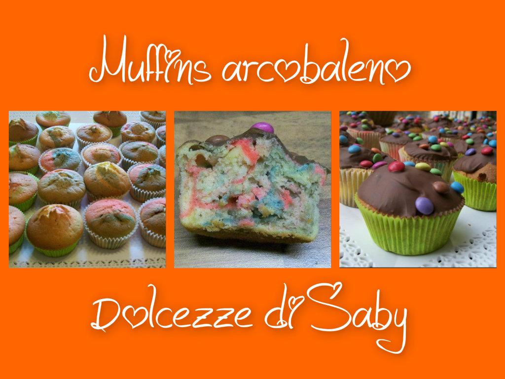 Muffin arcobaleno con cioccolato