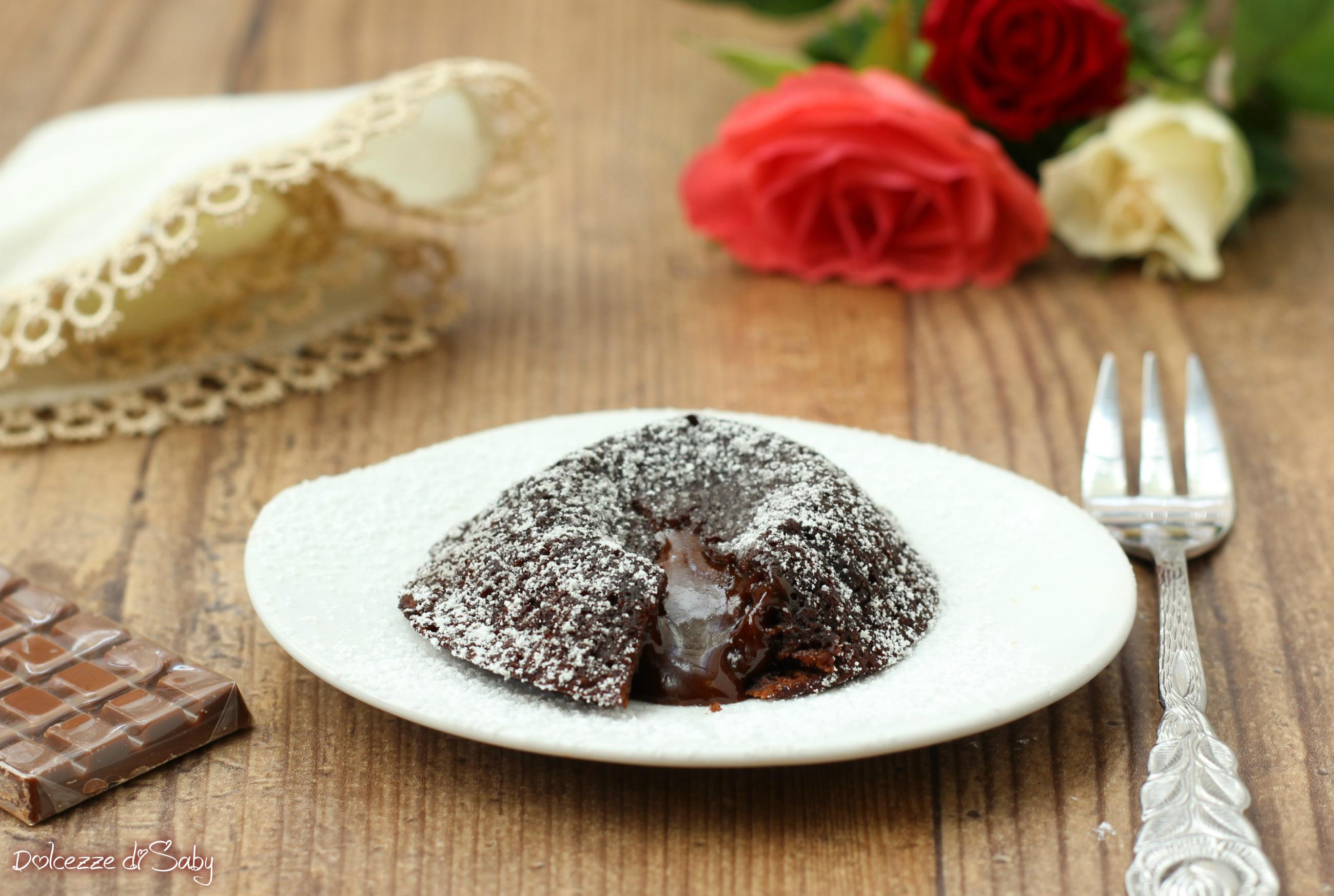 tortino al cioccolato col cuore morbido